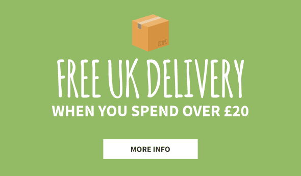 Free UK Shipping when you spend over £20